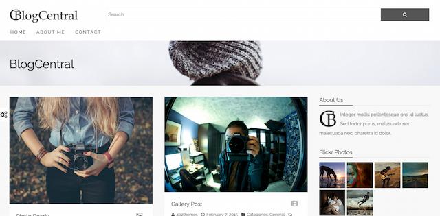 WordPressのテーマを「BlogCentral」に変更